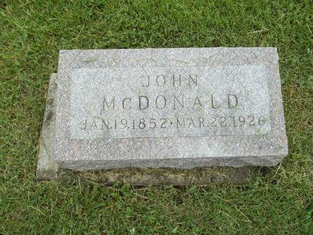 MCDONALD, JOHN - Appanoose County, Iowa | JOHN MCDONALD