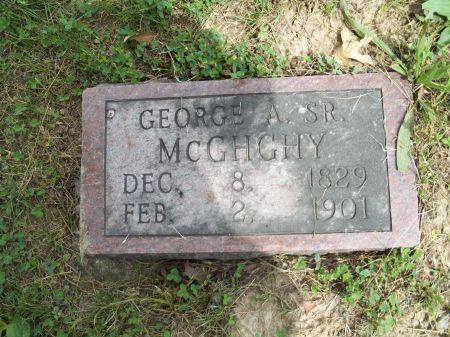 MCGHGHY, GEORGE A. SR. - Appanoose County, Iowa   GEORGE A. SR. MCGHGHY