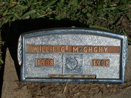 MCGHGHY, WILLIE GEORGE - Appanoose County, Iowa | WILLIE GEORGE MCGHGHY