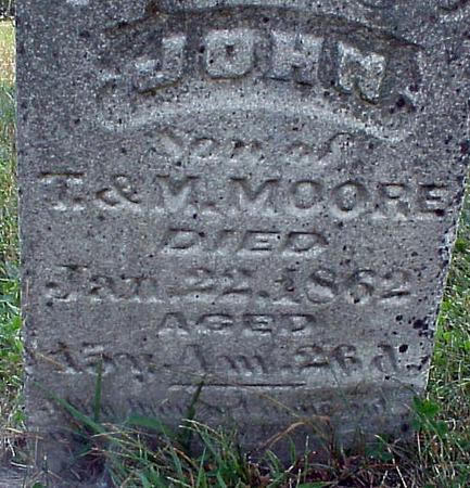 MOORE, JOHN - Appanoose County, Iowa | JOHN MOORE