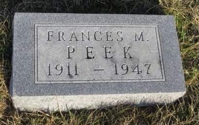 PEEK, FRANCES M. - Appanoose County, Iowa | FRANCES M. PEEK