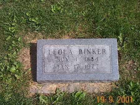 RINKER, LEOLA - Appanoose County, Iowa | LEOLA RINKER
