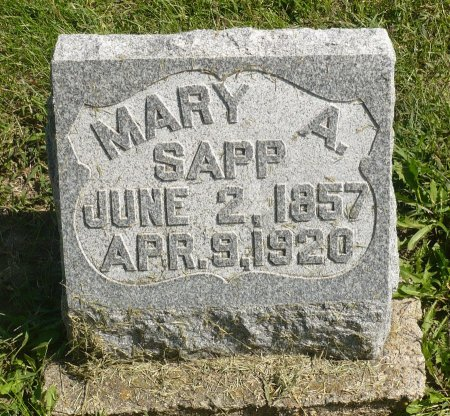 SAPP, MARY A. - Appanoose County, Iowa | MARY A. SAPP