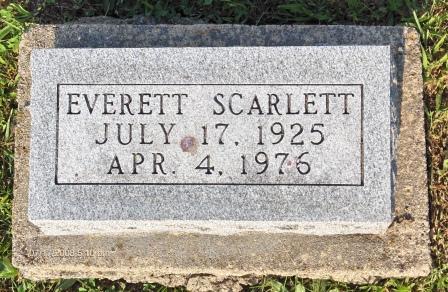 SCARLETT, EVERETT - Appanoose County, Iowa   EVERETT SCARLETT