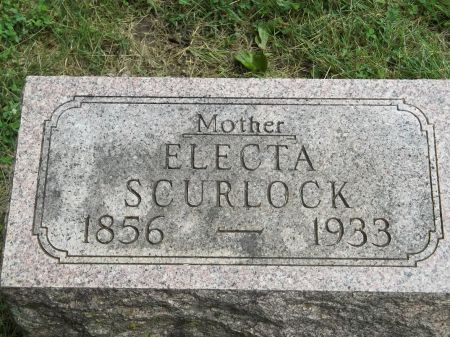 SCURLOCK, ELECTA - Appanoose County, Iowa   ELECTA SCURLOCK