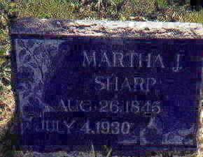 SHARP, MARTHA - Appanoose County, Iowa   MARTHA SHARP