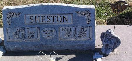 SHESTON, PAUL J. - Appanoose County, Iowa   PAUL J. SHESTON