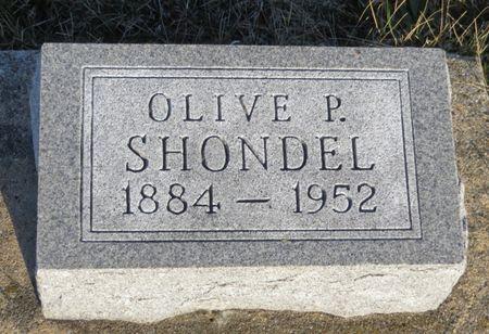 SHONDEL, OLIVE P. - Appanoose County, Iowa | OLIVE P. SHONDEL