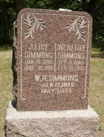SIMMONS, WEALTHY - Appanoose County, Iowa | WEALTHY SIMMONS