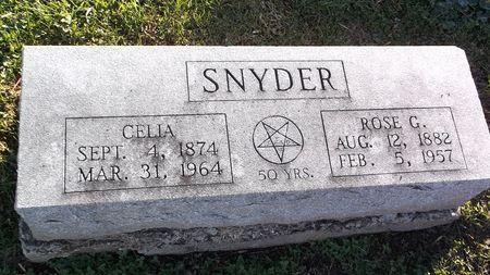 SNYDER, CELIA - Appanoose County, Iowa | CELIA SNYDER