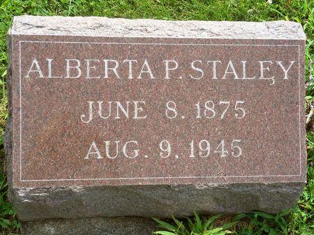 STALEY, ALBERTA P. - Appanoose County, Iowa | ALBERTA P. STALEY
