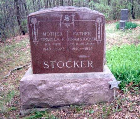 STOCKER, HIRAM AND DRUZILA (DRUSILLA) - Appanoose County, Iowa | HIRAM AND DRUZILA (DRUSILLA) STOCKER