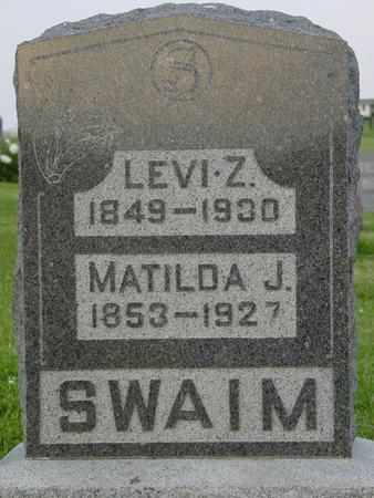 SWAIM, LEVI Z. - Appanoose County, Iowa | LEVI Z. SWAIM