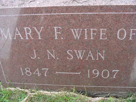 SWAN, MARY F - Appanoose County, Iowa | MARY F SWAN