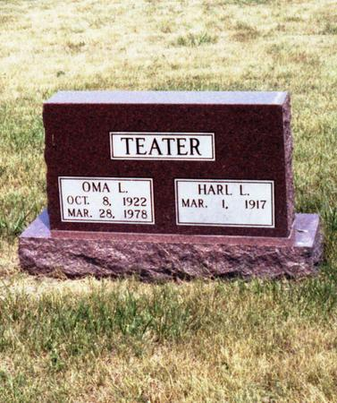 TEATER, OMA L. & HARL L. - Appanoose County, Iowa | OMA L. & HARL L. TEATER