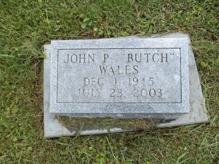 WALES, JOHN P. BUTCH - Appanoose County, Iowa   JOHN P. BUTCH WALES