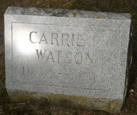 WATSON, CARRIE E. - Appanoose County, Iowa   CARRIE E. WATSON