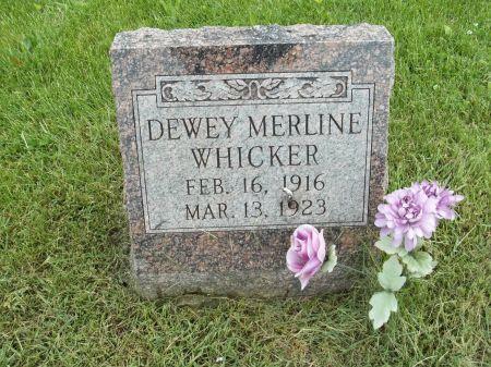 WHICKER, DEWEY MERLINE - Appanoose County, Iowa | DEWEY MERLINE WHICKER