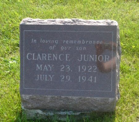 YOUNG, CLARENCE JUNIOR - Appanoose County, Iowa   CLARENCE JUNIOR YOUNG