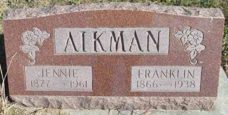 AIKMAN, JENNIE - Audubon County, Iowa | JENNIE AIKMAN
