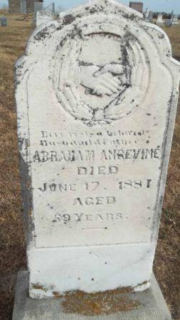 ANGEVINE, ABRAHAM - Audubon County, Iowa   ABRAHAM ANGEVINE