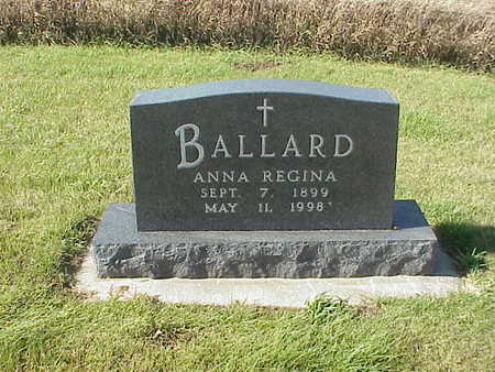 BALLARD, ANNA  REGINA - Audubon County, Iowa | ANNA  REGINA BALLARD