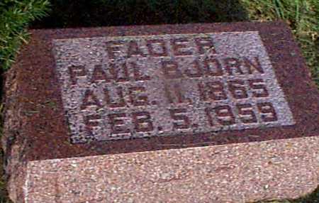 BJORN, PAUL - Audubon County, Iowa   PAUL BJORN