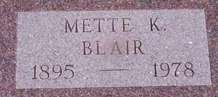 BLAIR, METTE K - Audubon County, Iowa | METTE K BLAIR