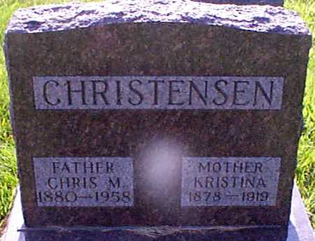 CHRISTENSEN, KRISTINA - Audubon County, Iowa   KRISTINA CHRISTENSEN