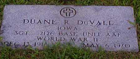 DU VALL, DUANE R - Audubon County, Iowa | DUANE R DU VALL