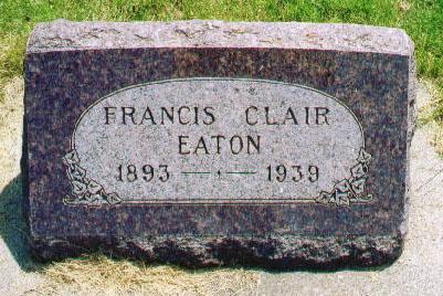 EATON, FRANCIS CLAIR - Audubon County, Iowa | FRANCIS CLAIR EATON