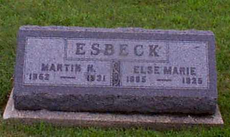CHRISTENSEN ESBECK, ELSE MARIE - Audubon County, Iowa | ELSE MARIE CHRISTENSEN ESBECK