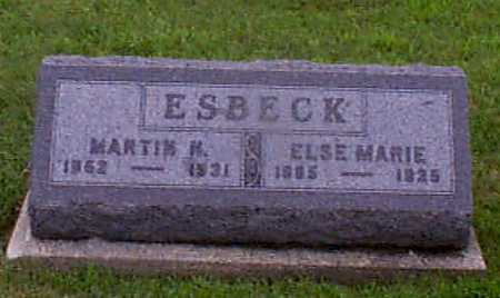 ESBECK, ELSE MARIE - Audubon County, Iowa | ELSE MARIE ESBECK
