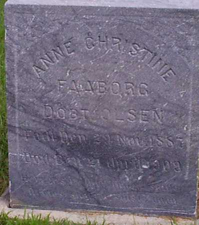 OLSEN FAABORG, ANNE CHRISTINE - Audubon County, Iowa | ANNE CHRISTINE OLSEN FAABORG