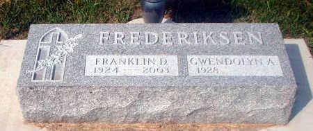 FREDERIKSEN, FRANKLIN D. - Audubon County, Iowa   FRANKLIN D. FREDERIKSEN