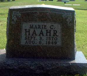 HAAHR, MARIE C. - Audubon County, Iowa   MARIE C. HAAHR