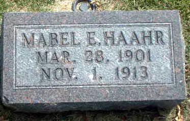 HAAHR, MABEL E. - Audubon County, Iowa | MABEL E. HAAHR