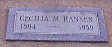 HANSEN, CECELIA MARIE - Audubon County, Iowa | CECELIA MARIE HANSEN
