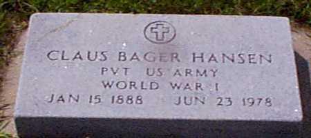 HANSEN, CLAUS BAGER - Audubon County, Iowa | CLAUS BAGER HANSEN
