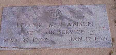 HANSEN, FRANK M - Audubon County, Iowa   FRANK M HANSEN