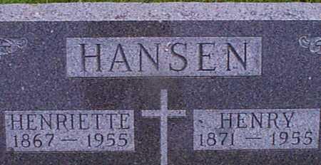 HANSEN, HENRIETTA - Audubon County, Iowa | HENRIETTA HANSEN