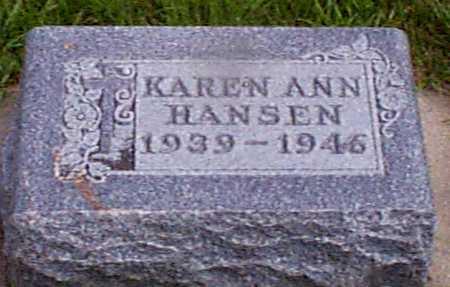 HANSEN, KAREN ANN - Audubon County, Iowa | KAREN ANN HANSEN