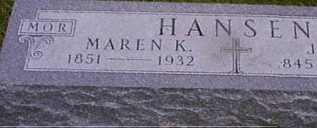 HANSEN, MAREN K - Audubon County, Iowa | MAREN K HANSEN