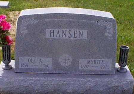 HANSEN, OLE A - Audubon County, Iowa | OLE A HANSEN