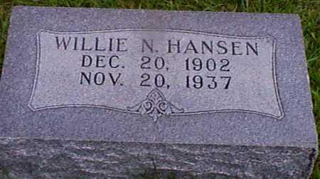 HANSEN, WILLIE N - Audubon County, Iowa | WILLIE N HANSEN
