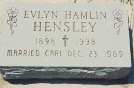 HAMLIN HENSLEY, EVLYN - Audubon County, Iowa   EVLYN HAMLIN HENSLEY