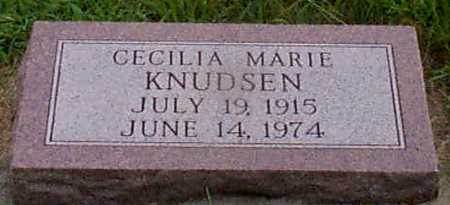 KNUDSEN, CELIA MARIE - Audubon County, Iowa   CELIA MARIE KNUDSEN