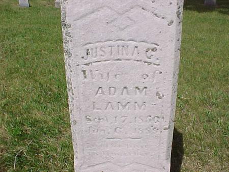 LAMM, JUSTINA C. - Audubon County, Iowa | JUSTINA C. LAMM