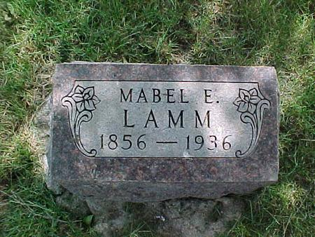 LAMM, MABLE E. - Audubon County, Iowa | MABLE E. LAMM