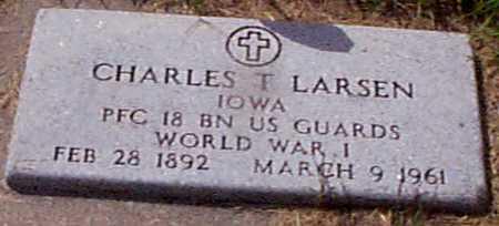 LARSEN, CHARLES T - Audubon County, Iowa   CHARLES T LARSEN